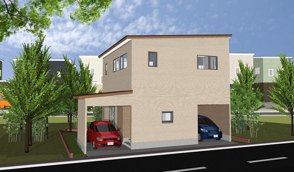 ビルトインガレージ 3LDK 32.5坪 32坪 新築 プラン
