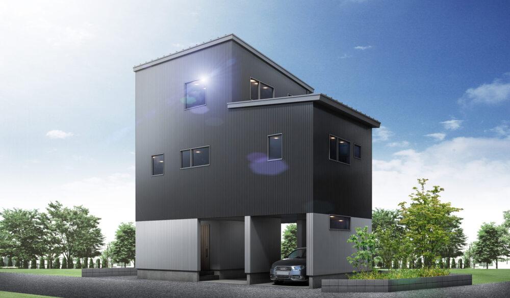 ビルトインガレージ 3LDK 36坪 新築 ホーム 3階建て